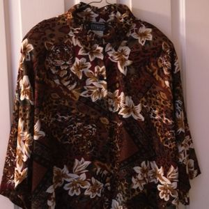Cybil Stewart button blouse 22W